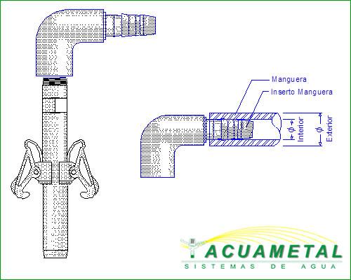 Codos llaves sistemas de riego
